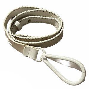 Coldwater Creek vintage faux leather loop belt XL